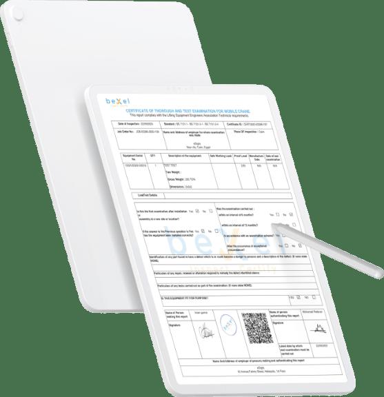 التحقق من صحة الشهادة beXel Inspection Software